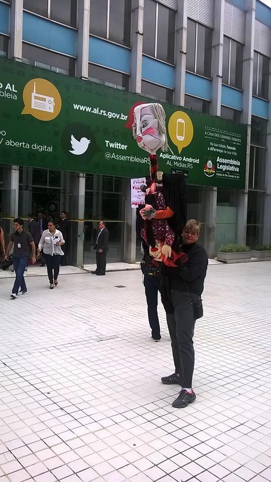eu e o protesto