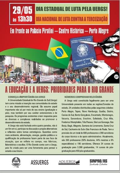 Mobilização UERGS 29 de maio