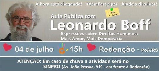 Palestra Leonardo Boff em Porto Alegre