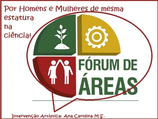 Símbolo Fóruns de Área da UERGS Homens e Mulheres do mesmo tamanho na Ciência