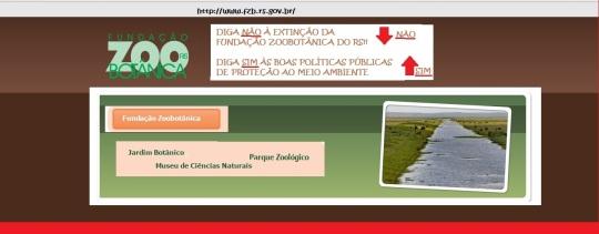 Manifesto contra a extinção da Fundação Zoobotânica do RS