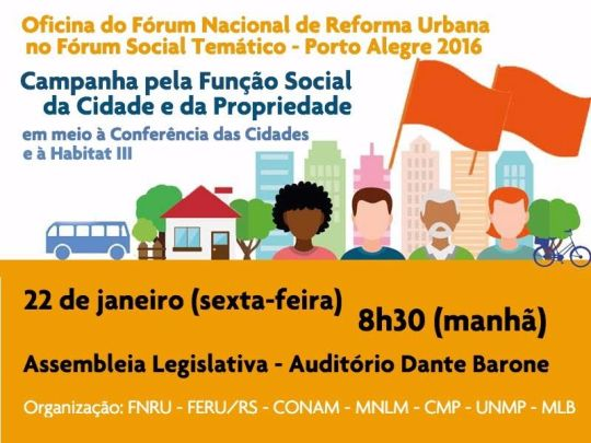 Oficina Forum Reforma Urbana 2016
