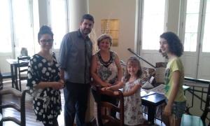 Inauguração da Cafeteria. Proprietário e família.