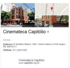 Cine Theatro Capitólio POA Endereço