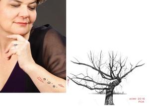 Tatuagem de árvore SOS