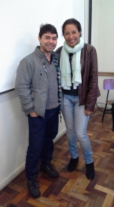 Gilca Monteiro e seu colega de Pós em Gestão Pública: Sandro Luiz Gonsalves Vieira.