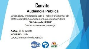 Audiência Pública UERGS: Não À Filantropia.