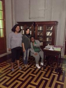 Sônia Oliveira, Lisiani Gomes e Emilene Teixeira na 62 Feira do Livro de POA