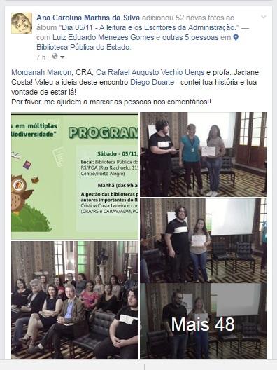 UERGS CRA BIBLIOTECA PÚBLICA DO RS E CARAV na 62 Feira do Livro de POA