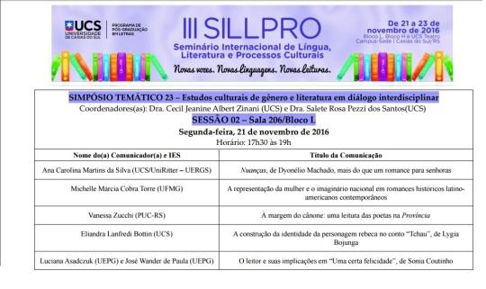 Nuanças de Dyonélio Machado no III SILLPRO - UCS/UniRitter